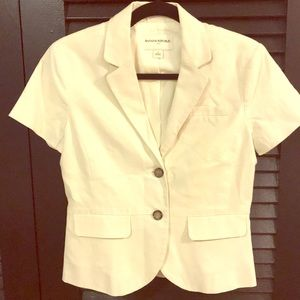 Cream blazer with buttons